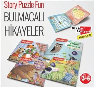 Bulmacalı Hikayeler Story Puzzle Fun - 4 Kitap Takım