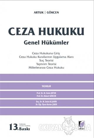 Ceza Hukuku Genel Hükümleri (Ciltli) - Ahmet Gökcen - Adalet Yayınevi