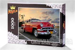 Chevrolet Bel Air - 1954 (1000 Parça) - Ahşap Puzzle Taşıt Serisi - (TT01-M)