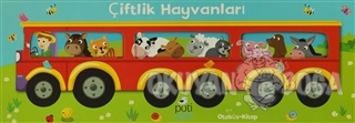 Çiftlik Hayvanları: Otobüs - Kitap (3 Kitap - 7'şer Sayfa) - Kolektif