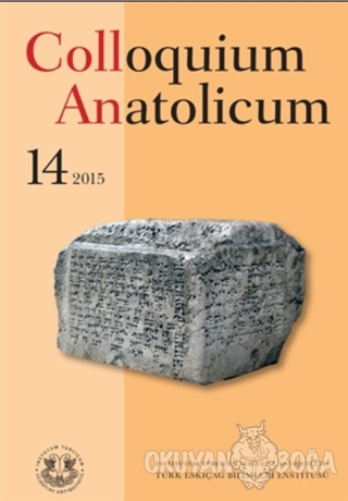 Colloquium Anatolicum - Bilge Hürmüzlü - Türk Eskiçağ Bilimleri Enstit