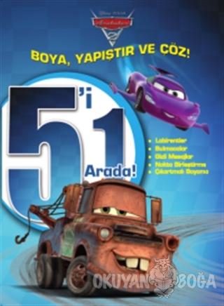 Disney Arabalar: 5'i 1 Arada Boya Yapıştır ve Çöz - Kolektif - Doğan E