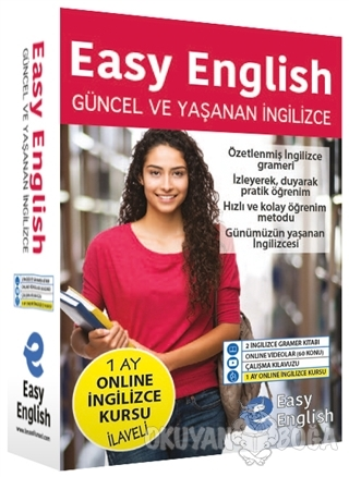 Easy English Güncel ve Yaşanan İngilizce Eğitim Seti (Ciltli)