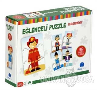 Eğlenceli Puzzle Meslekler Büyük Boy 36 Parça - Kolektif - Gizzy Art