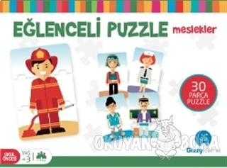 Eğlenceli Puzzle Meslekler Küçük Boy 30 Parça - Kolektif - Gizzy Art