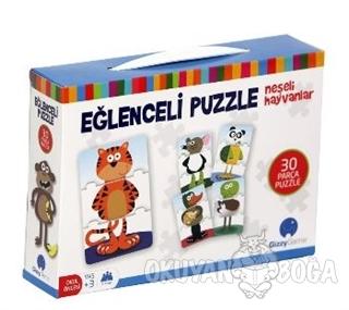 Eğlenceli Puzzle Neşeli Hayvanlar Küçük Boy 30 Parça - Kolektif - Gizz