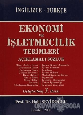 Ekonomi ve İşletmecilik Terimleri  Açıklamalı Sözlük İngilizce - Türkçe