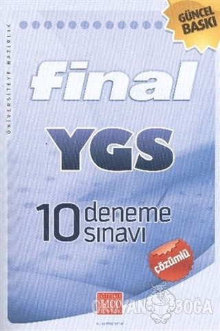 Final YGS 10 Deneme Sınavı - Çözümlü - Komisyon - Final Yayınları