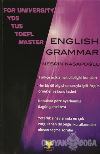 For University YDS TUS TOEFL Master English Grammar
