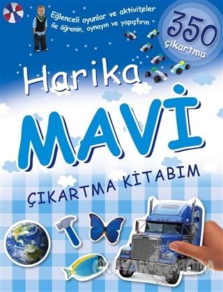 Harika Mavi Çıkartma Kitabım - Kolektif - Koleksiyon Yayıncılık - Çocu
