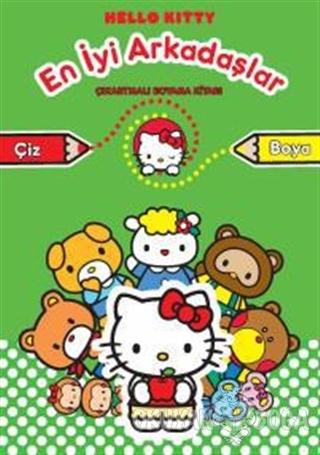 Hello Kitty En İyi Arkadaşlar - Çıkartmalı Boyama - Kolektif - Doğan E
