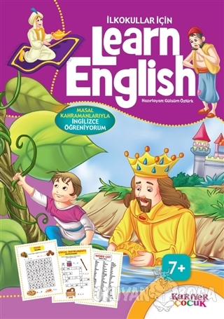 İlkokullar İçin Learn English - Mor