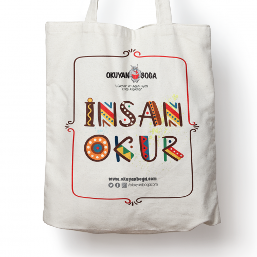 Okuyanboga.com Bez Çanta (İnsan Okur) - - OKB-Aksesuar