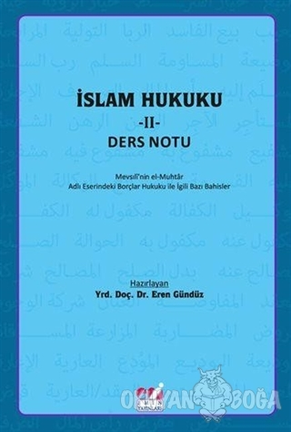 İslam Hukuku 2 - Ders Notu