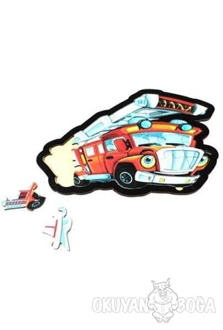 İtfaiye Ahşap Puzzle 17 Parça - - Parıltı Yayınları - Hobi