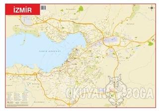 İzmir - Türkiye Fiziki Haritası 70x100 (Çift Taraflı)
