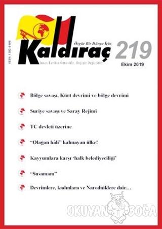 Kaldıraç Dergisi Sayı: 219 Ekim 2019