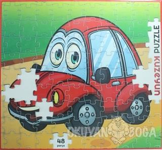 Kırmızı Arabam - 48 Parça Puzzle - Kolektif - Kuzey Yayınları