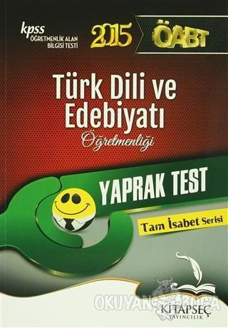 KPSS 2015 ÖABT Türk Dili ve Edebiyatı Öğretmenliği Yaprak Test - Kolek