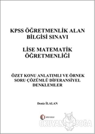 KPSS Öğretmenlik Alan Bilgisi Sınavı Lise Matematik Öğretmenliği - Dif