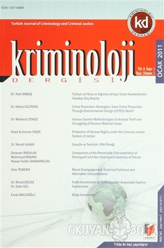 Kriminoloji Dergisi Ocak 2011 Yıl: 3 Sayı: 1 - Kolektif - Adalet Yayın