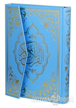 Kur'an-ı Kerim Gökkuşağı Renkli Mavi Cilt (Mühürlü) (Ciltli)