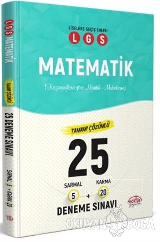 LGS Matematik Tamamı Çözümlü 25 Deneme Sınavı