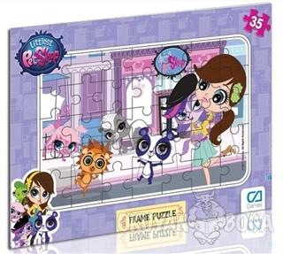 Littlest Pet Shop - Frame Puzzle 1 - Mor (35 Parça)