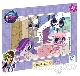 Littlest Pet Shop - Frame Puzzle 2 - Mor (35 Parça)