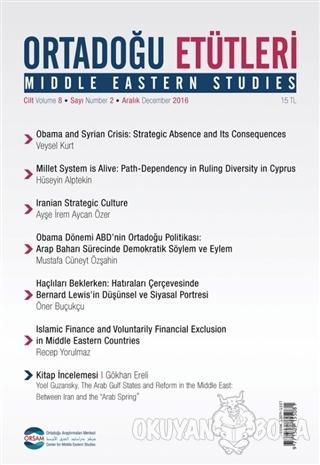 Ortadoğu Etütleri Cilt 8 Sayı 2  Aralık 2016