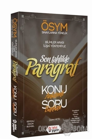 ÖSYM Son Tahlilde Paragraf - Çiğdem Metin - Metin Yayınları