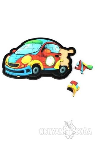 Otomobil Ahşap Puzzle 18 Parça - - Parıltı Yayınları - Hobi