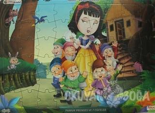 Pamuk Prenses ve 7 Cüceler Üçü Bir Arada! (Yapboz-Hikaye-Boyama)