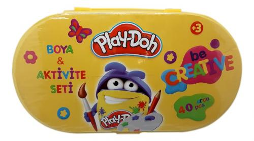 Play-Doh Kırtasiye Seti (40 PARÇA) ST001 - - Play-Doh