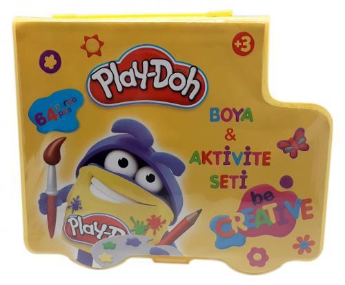 Play-Doh Kırtasiye Seti (64 PARÇA) ST002 - - Play-Doh