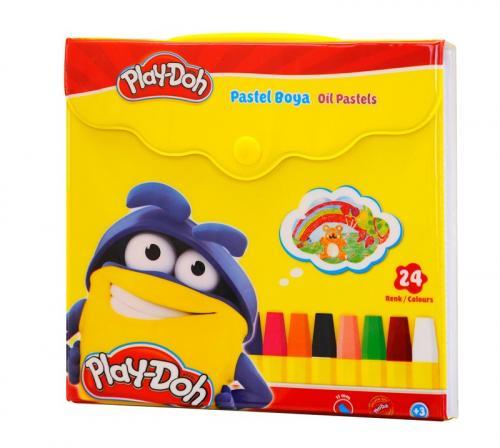 Play-Doh Pastel Boya Çantalı 24 Renk PA007 - - Play-Doh