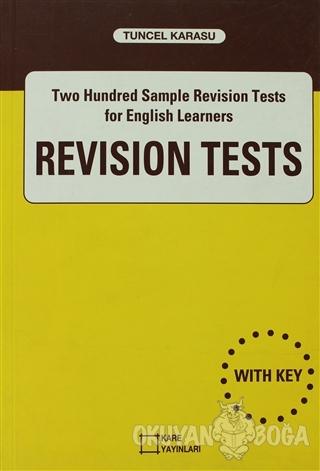 Revision Tests - Tuncel Karasu - Kare Yayınları - Ders Kitapları