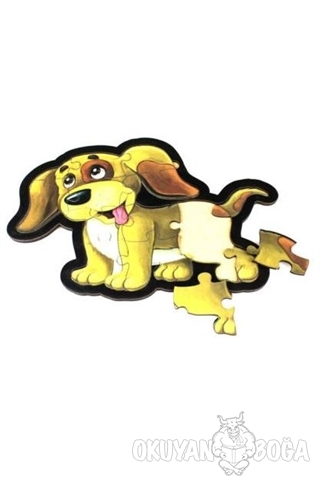 Sarı Köpek Ahşap Puzzle 14 Parça - - Parıltı Yayınları - Hobi