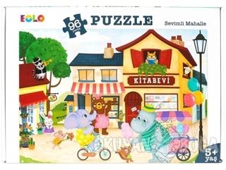 Sevimli Mahalle - 96 Parça Puzzle (5 Yaş)
