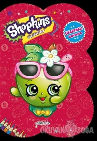 Shopkins Cicibiciler - Kırmızı Çıkartmalı Boyama