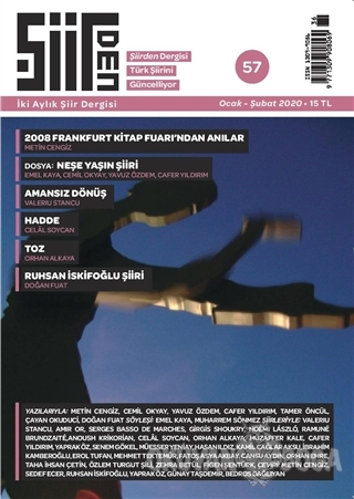 Şiirden İki Aylık Şiir Dergisi Sayı: 57 Ocak - Şubat 2020