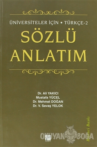Sözlü Anlatım - Mehmet Doğan - Gazi Kitabevi