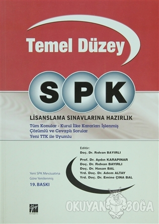 SPK Temel Düzey Lisanslama Sınavlarına Hazırlık