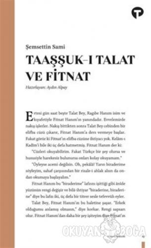 Taaşşuk-ı Talat ve Fitnat - Şemsettin Sami - Turkuvaz Kitap