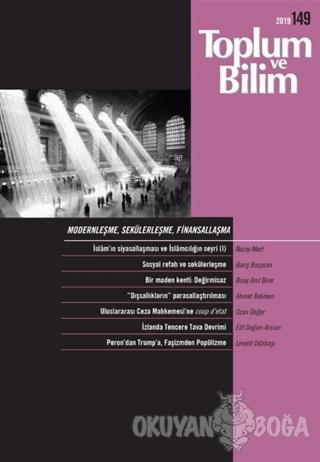 Toplum ve Bilim Dergisi Sayı: 149 - Kolektif - İletişim Yayınevi