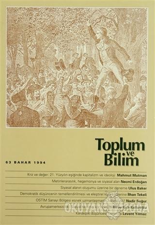 Toplum ve Bilim Sayı: 63 - Kolektif - Birikim Yayınları