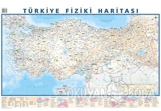 Türkiye Mülki İdare Bölümleri Fiziki Haritası 50x70 (Çift Taraflı)