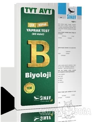 TYT AYT Biyoloji Yaprak Test - Kolektif - Sınav Yayınları