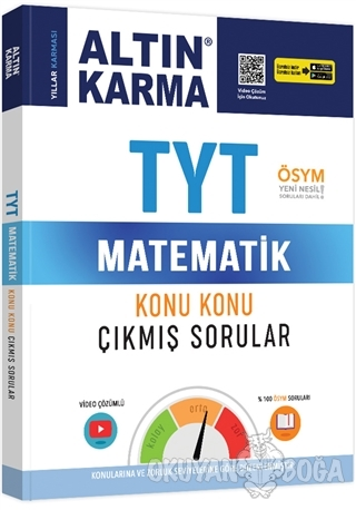 TYT Matematik Konu Konu Çıkmış Sorular - Kolektif - Altın Karma Yayınl