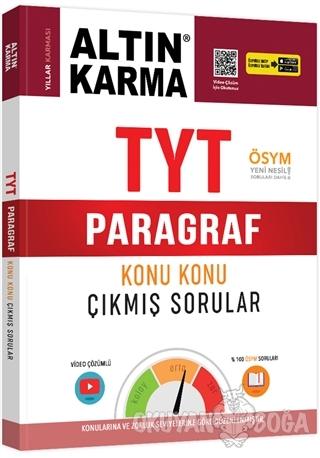 TYT Paragraf Konu Konu Çıkmış Sorular - Kolektif - Altın Karma Yayınla